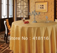 free shipping tablecloths for weddings  jacquard round banquet