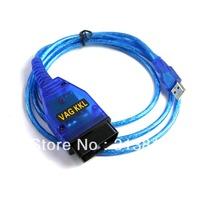 Free Shipping New USB Cable Car Diagnose tool KKL VAG 409.1 For VW/AUDI OBD2 OBD OBDII COM Scanner
