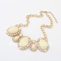 Europe&America fashion luxurious precious stone women necklace free shipping