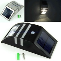 New Arrival Solar Power Motion Sensor Super Bright LED Light Garden Wall PIR Lamp +Free Shipping
