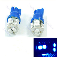 5pair Super Bright T10 Blue 10 LED SMD Auto Car Wedge Light Bulb Lamp
