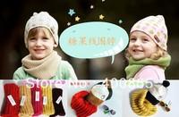Fashion kids neckchief,childrens warm collar,Tide scarf candy color children warm wool scarf knitted scarf