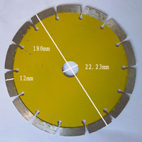 180mm segment dry cutting disc hot sintered stone saw blade
