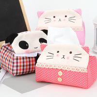 Home cloth tissue box tissue cover cartoon plush tissue pumping 40g