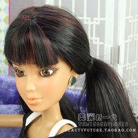 Liv dolls doll wig accessories original black daniela hair straight hair