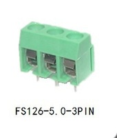 3 Pin Screw Terminal Block Connector 5mm Pitch 10Pcs/Lot FS126-5.0-3P(www.fastgd.cn)