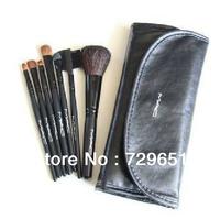 2013 new !! Cheap 7 Makeup Brush Set tools Make-up Toiletry Kit Wool Brand Make Up Brush Set Case free shipping
