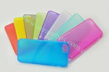 100pcs/lot Solid Color Matte TPU Mobile Phone Case for iphone 5C
