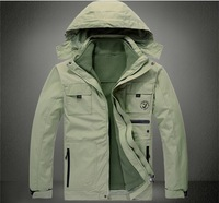 2013 male outdoor sports jacket breathable outwear  2 piece waterproof men's coat free shipping base 2W