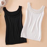 Free shipping 2013 summer beaded spaghetti strap vest basic vest spaghetti strap tops women's basic shirt tank tops