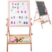 Baby drawing board double faced 2013 tablespoonfuls blackboard mount type toy magnetic puzzle child