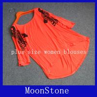 Free shipping bat sleeve width Songmo generations sleeve cotton T-shirt blouse large size women plus size women dress xxxxl