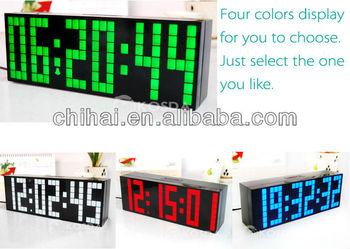 Big digital LED backlight display countdown temperature calendar alarm desk wall clocks timer