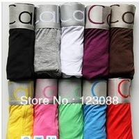 Free Shipping 5pcs/lot High Quality Men Boxers cotton  Trunk Underwear Men 11 Colors For You Choice