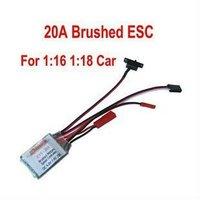 Free shipping!ESC 20A Brushed Reverse Motor Speed Controller 1/16 1/18 CAR Boat (BRAKE OFF)