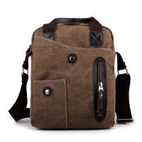 Men Fashion Casual Canvas Bag Backpack Men's Travel Shoulder Bags Backpack Men Messenger Canvas Laptop Briefcase Free Shipping