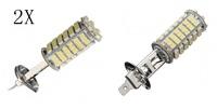 2x 12V New Car H1 102 SMD LED Xenon White Fog Beam Driving Head Light Lamp Bulb
