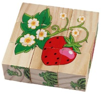Strawberry CoWa B0970 DIY toys 3D wooden puzzles 6 sides different patterns animals 3D jiasaw for kids drop/free shipping