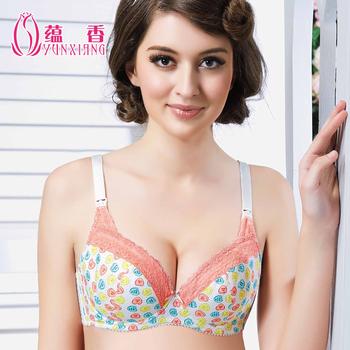 Nursing bra maternity underwear,floral print mother breast feeding bra,mamma uber milk nursing lace underwire bra,free shipping