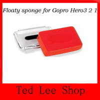 Red Floaty sponge for Gopro Hero 3 Hero2 Hero1, with 3M sticker Free Shipping
