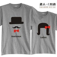 Gentlewomen 2012 spring women's lovers short-sleeve T-shirt