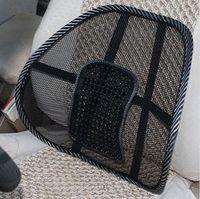 Summer massage breathable tournure viscose lumbar support car office chair net fabric waist support pillow cushion