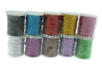 Free shipping!!!Metallic Color Thread,Statement, Purl, mixed colors, 0.70mm, 10PCs/Lot, Sold By Lot