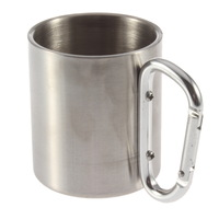 220 stainless steel shackle camping cup hanging outdoor stainless steel cup camping cup