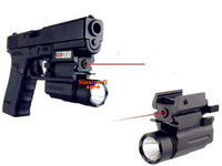 2 IN 1 Tactical  AQPTF Flashlight  & Red Laser Sight for Pistol QD Free Shipping
