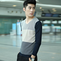 Men's clothing 2013 sweater male sweater thermal basic shirt sweater boys