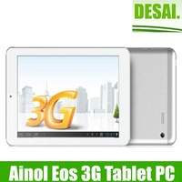 Free shipping Ainol Novo 7 Eos 3G Android Tablet PC 7 inch 1280*800 IPS G+G Screen 1GB RAM 16GB ROM GPS Phone Call WCDMA