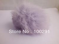 30pcs / lot Genuine Rabbit Fur Ball  light purple color Adornment 80mm Free Shipping
