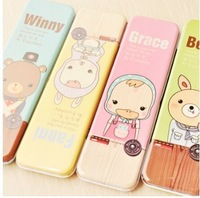 free shipping 20pcs/lot fashion lovely cartoon illustration pencil case Stationery wholesale (randomly), Promotional gifts