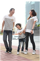 Family fashion summer lovers mother and son 2011 brief black and white stripe