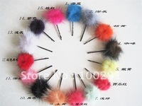 Free ship!!! 500pcs/lot red blue green yellow brown Genuine Mink Fur Ball 30mm mixed color acceptable