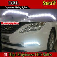 22 PCS  L Type LED daytime running light DRL fog lamp lights Fit HYUNDAI SONATA YF 2011-2013
