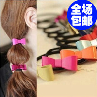 Fashion metal gold 1060 neon color small bow headband hair rope hair accessory hair accessory female