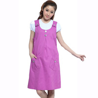 Spring and summer autumn maternity clothing fashionable casual 100% cotton maternity dress tank dress braces skirt spring