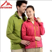 Outdoor outshine oort trench ultra-thin sun protection clothing male anti-uv clothing