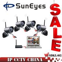 SunEyes 2.4G Digital Wireless Kit DVR 4CH with USB Receiver High Quality Wireless CCTV Camera Systems SDK-L402