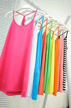 Excellent universal candy color basic vest modal cotton basic vest(China (Mainland))