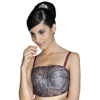 Wb15 summer thin quality full cup bra tube top bra design quality embroidery tube top