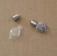 WUL256== ! ! 200PCS  HEART  VIAL PENDANT BOTTLE 6mm fit necklace  VPB 004