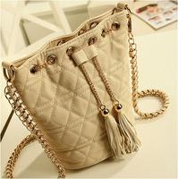 Black plaid 2013 chain fashion mini one shoulder cross-body women's handbag small bag bucket bag