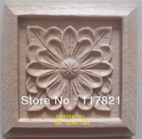 Dongyang wood furniture, door corner flower applique flowers home accessories shavings box flower f-0037-2