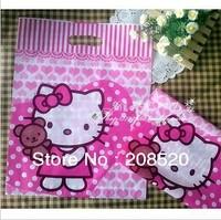 AD241 free shipping 100pcs/lot wholesale 30*40cm hello kitty plastic shopping bag