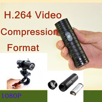 Free shipping  H.264 New metal Waterproof Full HD mini video camera 1080P replaceable batteries