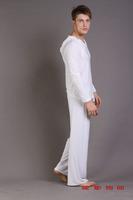 1 set 2014 free shipping and hot sale Male sleepwear male pajama pants viscose sleepwear pajama pants set sleepwear yoga clothes