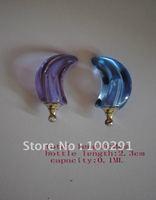 Free shipping!!!  MINI mixed color moon Pendant & rings *perfume bottle Rice Vials perfume pendant