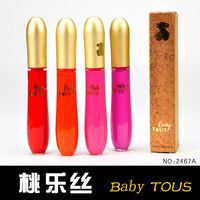 free shipping 10pcs Baby liquid lipstick lip gloss 2467a variegating moisturizing 8502